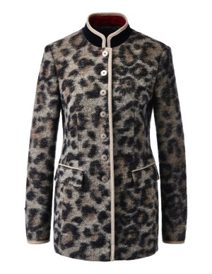Long animal print blazer