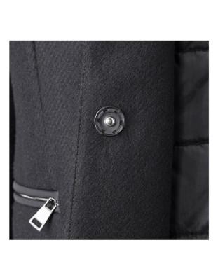 Jacket with detachable hood in a bodywarmer look