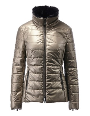 Quilted jacket with two-way zip