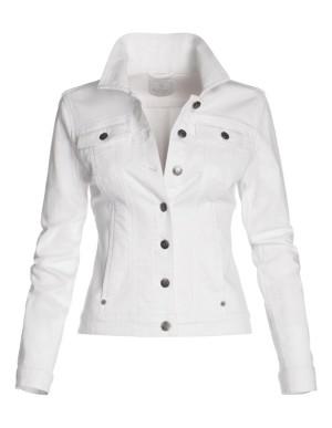 Casual white denim jacket