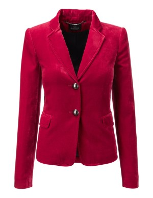 Velvet blazer with metallic buttons