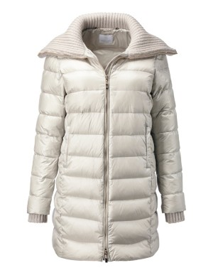 Down quilted winter jacket