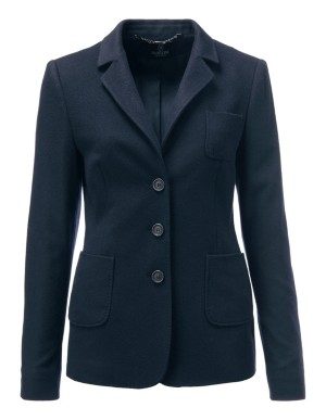 Classically lined cashmere blazer