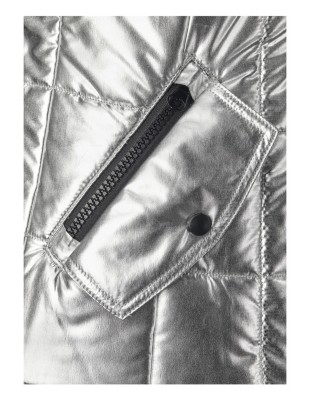 Quilted metallic finish bodywarmer