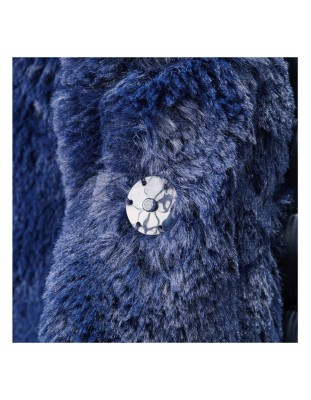 Faux fur jacket with removable down waistcoat