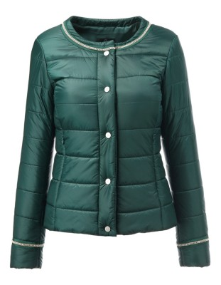 Quilted jacket with sparkling trim detailing