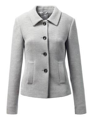 Textured A-shape blazer
