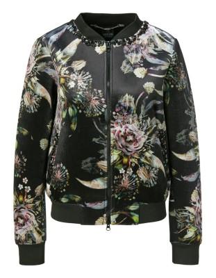 Floral blouson-style jacket