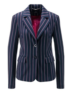 Striped stretch blazer with contrasting lining