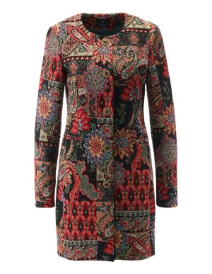 Tapestry-look jacquard frock coat