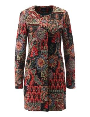Tapestry-look jacquard frock coat