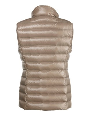 Slim-fit down waistcoat with two-way zip