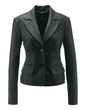 Shimmering waist-length blazer