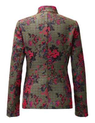 Tapestry-look jacquard blazer