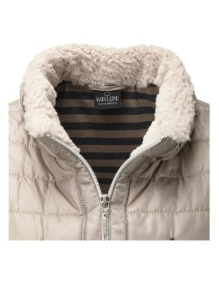 Gilet with two-way zip
