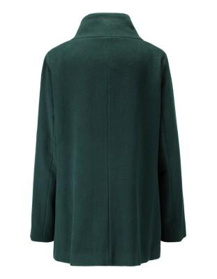 Short wool coat with two-way zip