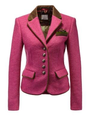 Short milled wool blazer