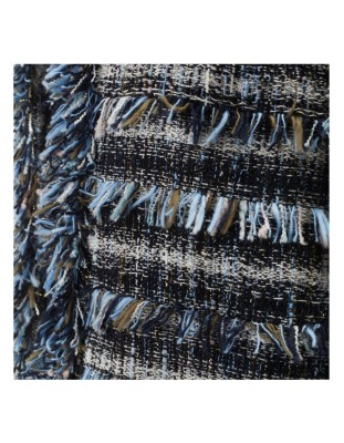 Fringed frock coat made of a fancy yarn