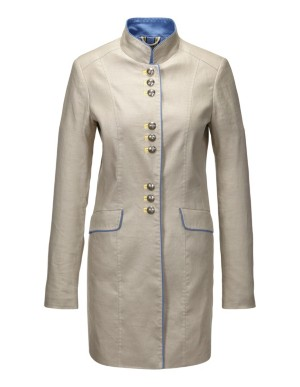 Long summery linen frock coat