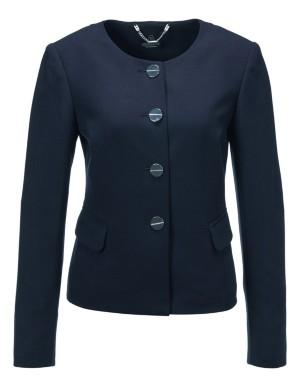 Stretch crepe blazer
