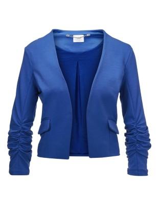 Blazer with gathered elasticated sleeves