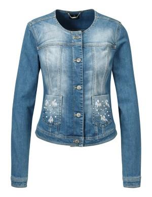 Short tailored denim jacket
