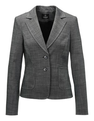 Salt-and-pepper blazer