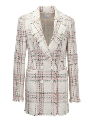 Double-breasted frock coat with fringe edges