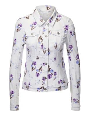 Printed denim jacket