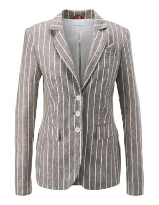 Striped summer linen blazer