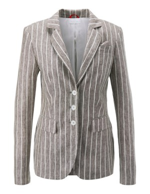 Striped summer linen blazer