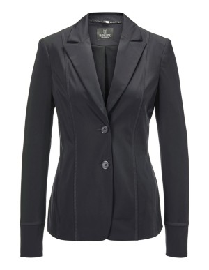 Blazer with decorative flatlock seams