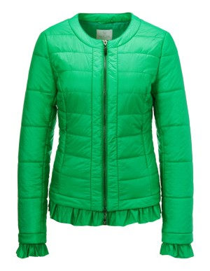 Quilted summer jacket with ruffle details