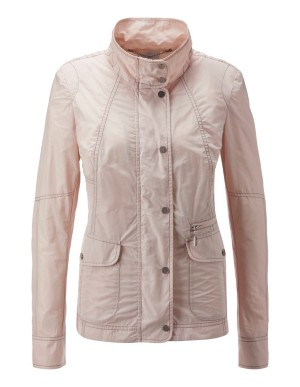 Summer jacket with decorative stitching