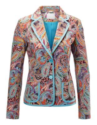 Paisley blazer with contrasting trim