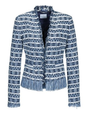 Textured novelty tweed blazer