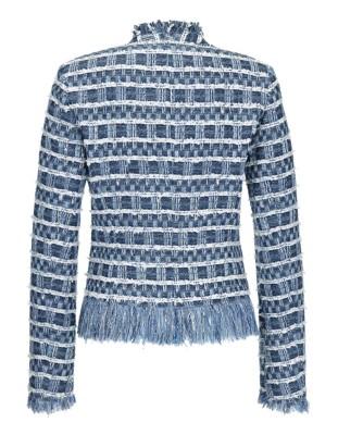 Textured novelty tweed blazer