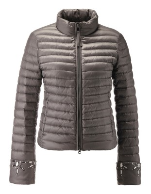 Sparkle-detailed quilted winter jacket