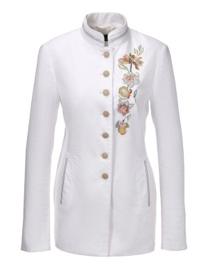 Embroidered linen frock coat