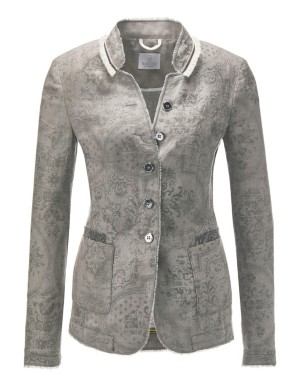 Linen frayed-edge blazer