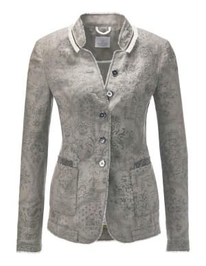 Linen frayed-edge blazer