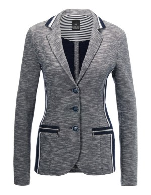 Contrast-colour patchwork blazer