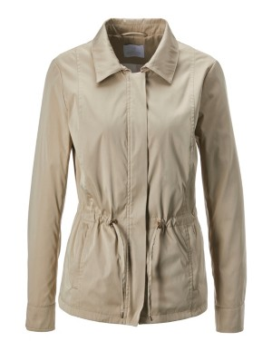 Jacket with drawstring waist