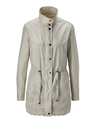 Parka-style jacket with embroidery