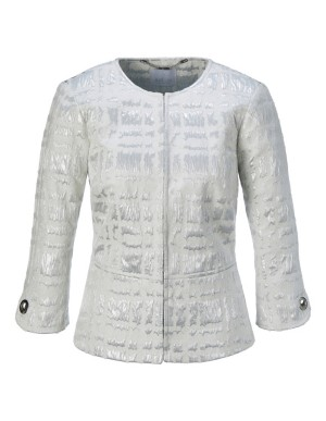 Peplum jacquard blazer