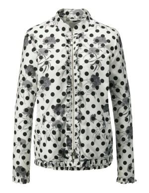 Ruffled-edge jacket