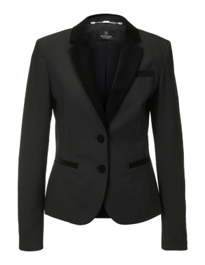 Short blazer with velvet lapels