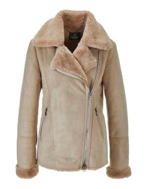 Faux lambskin jacket