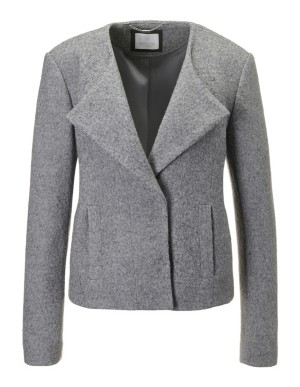 Short woollen boxy jacket