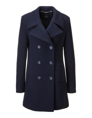 Double-breasted pea coat
